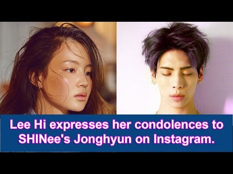 Lee Hi Expresses Her Condolences To SHINee's Jonghyun On Instagram.
