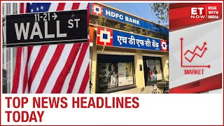 Dow Jones breaches 30,000 mark; HDFC Bank hits ₹8 lakh cr market cap | Top Headlines