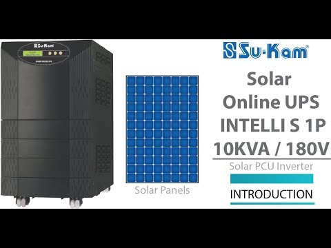 Solar Online UPS 10 KVA / 180V Introduction Solar PCU Inverter