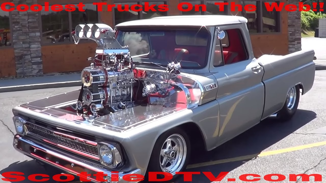 1965 chevy pickup twin supercharged youtube. Black Bedroom Furniture Sets. Home Design Ideas