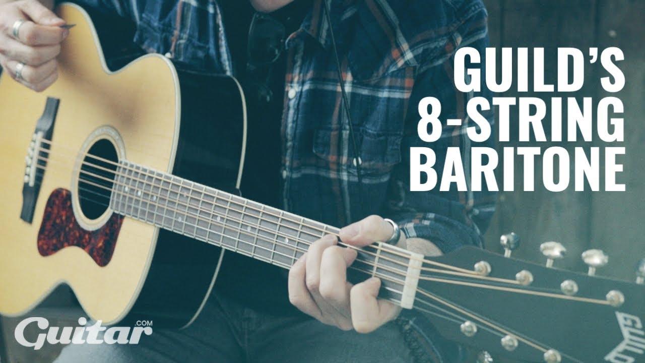 Guild BT-258E Deluxe Baritone 8-string acoustic guitar demo | Guitar.com