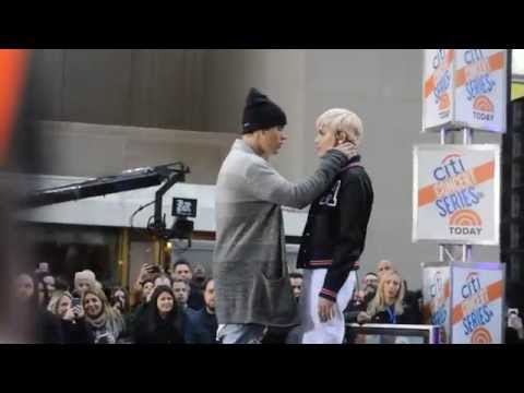 Justin Bieber on the todayshow