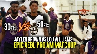 Boston Celtics Jaylen Brown vs LA Clippers Lou Williams GETS CRAZY at AEBL Atlanta + JB DUNK PARTY!!
