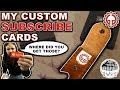 YouTube Subscribe Cards & Black Bosk Holder