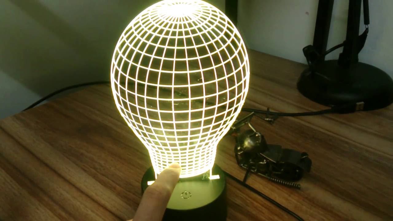 7 Colors Led Lamp Base With 10 Leds For 3d Illusion