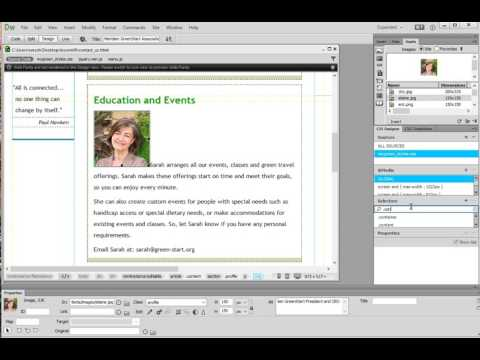 Positioning Images with CSS Designer in Dreamweaver CC