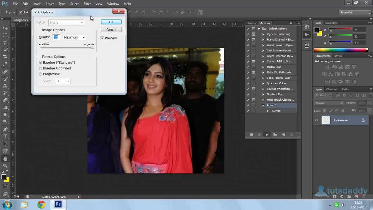 How to process photos in Photoshop