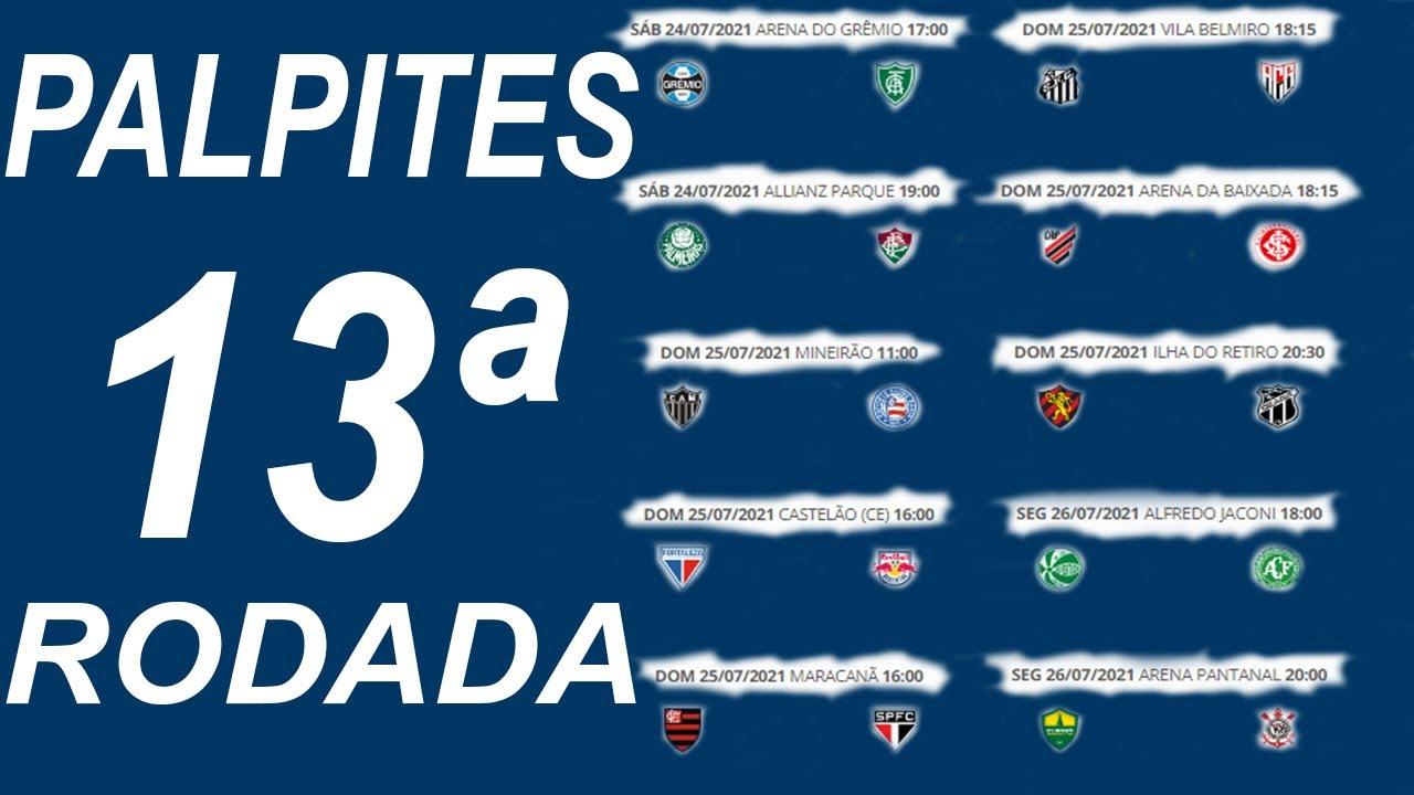 Palpites 13ª Rodada Do Brasileirão 2021