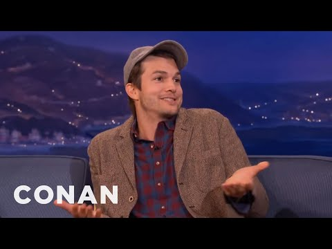 Ashton Kutcher Is So Over Charlie Sheen  - CONAN on TBS