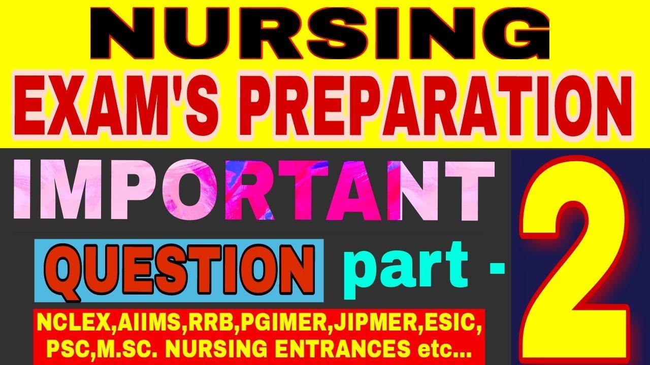 NURSING exam preparation I IMPORTANT QUESTIONS part 2 I Fnp I STAFF ...
