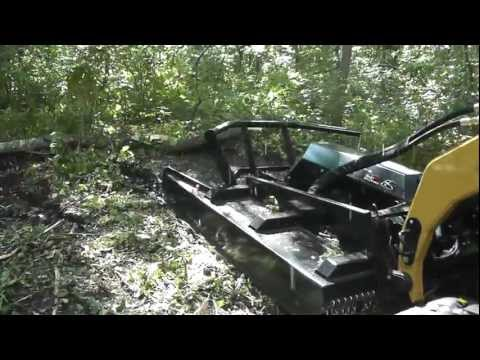 Skid Pro Industrial Brush Cutter Open Deck Demo Video