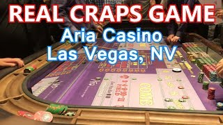 REAL Craps Game - $25 MINIMUM - Aria Casino, Las Vegas, NV - Live Craps #11 - Inside the Casino