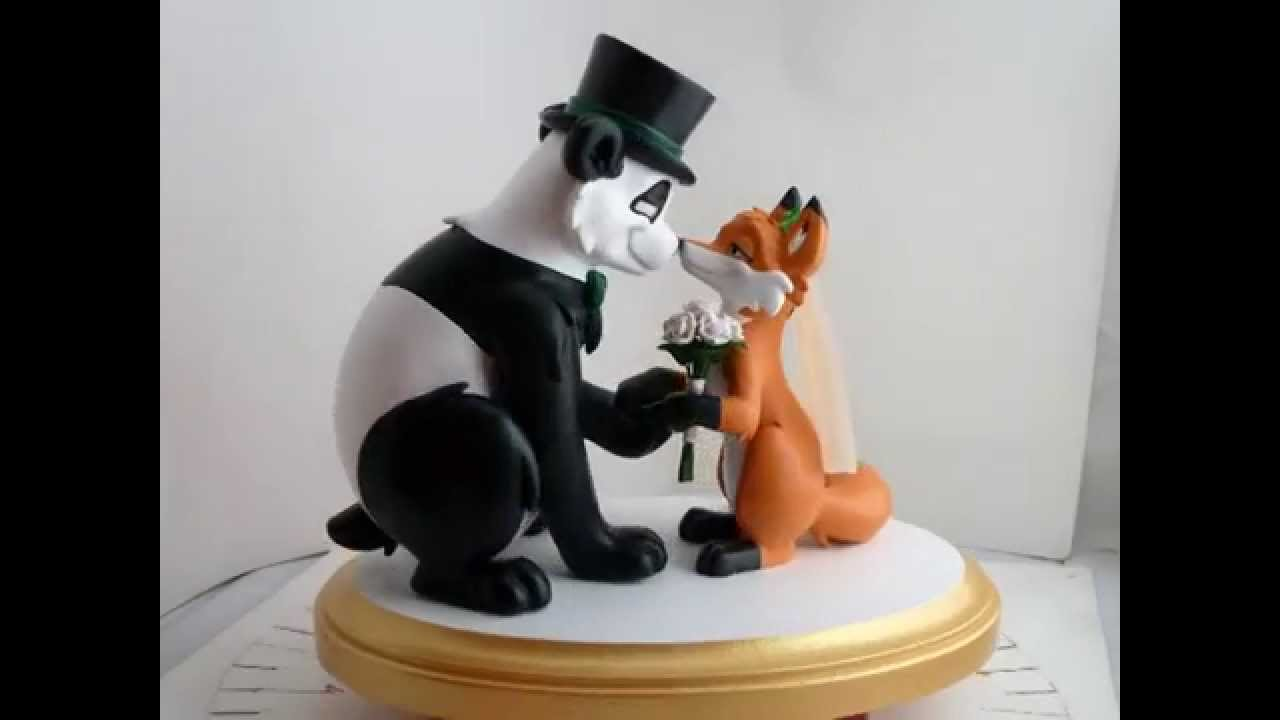 Panda Bear Wedding Cake Topper