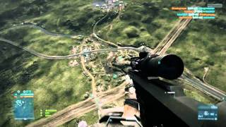 Battlefield 3 - BEST / Longest Headshot Ever!?!?! - Caspian Border
