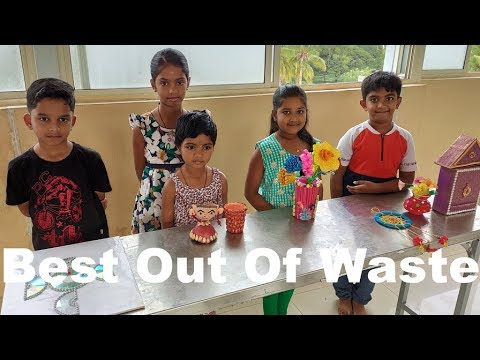 Best out of waste crafts idea By VT Kids / best out of waste competition / Learn With Pari
