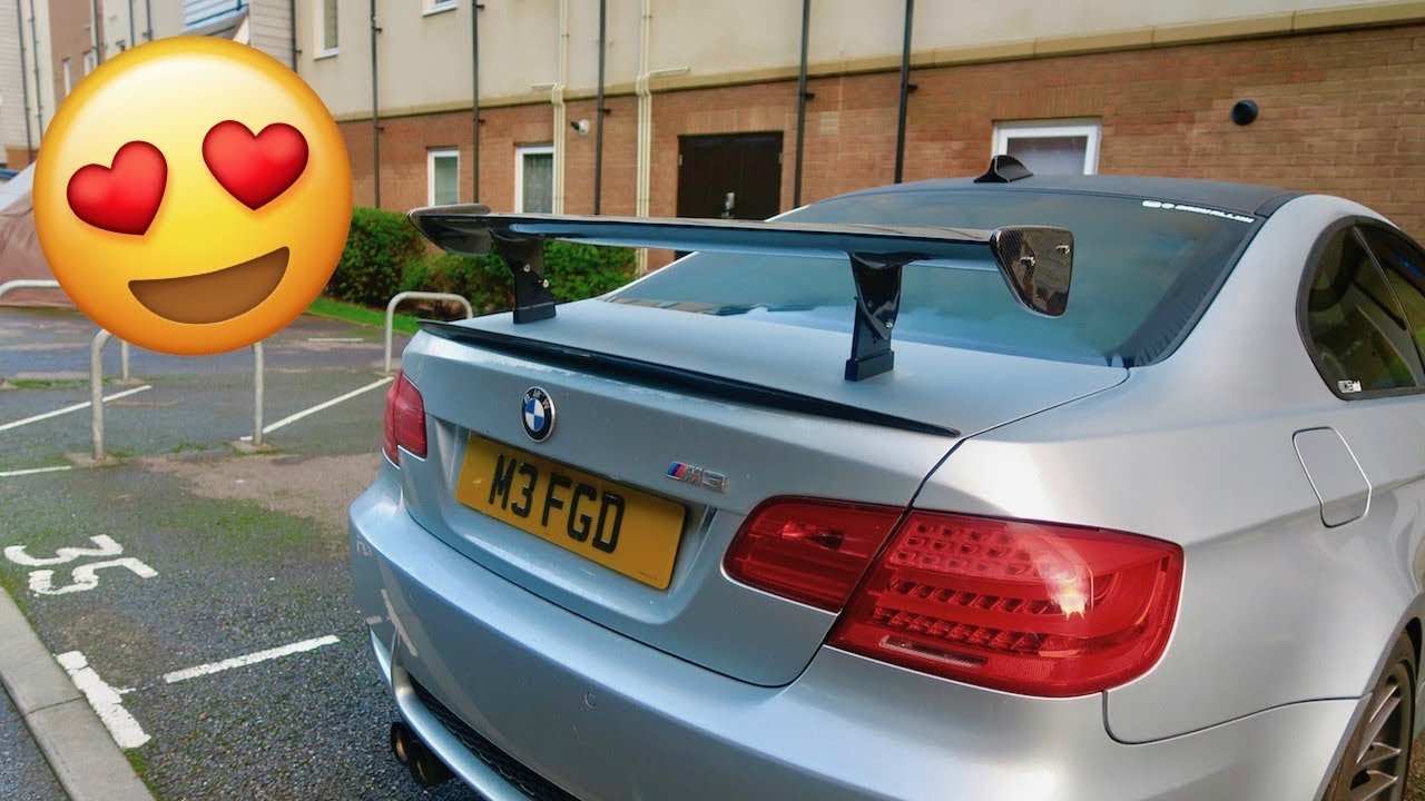 My New Carbon Fibre Gts Wing Spoiler For My Bmw E92 M3
