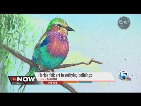 Florida folk art beautifying buildings