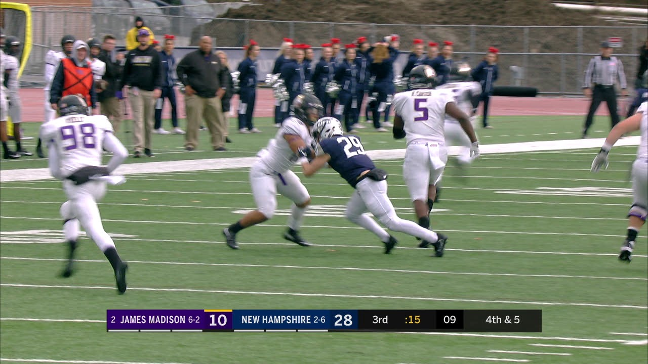 Unh Football Vs Jmu Highlights 11 3 18 Youtube