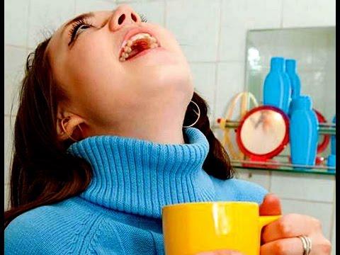 Лечение горла народными средствами - орошение, полоскание