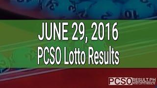 PCSO Lotto Results June 29, 2016 (6/55, 6/45, 4D, Swertres & EZ2)