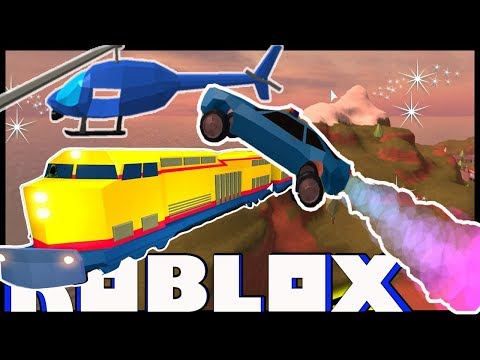 ROBLOX JAILBREAK | JUMPING TRAIN ONTO HELICOPTER WITH ROCKET FUEL!?!?