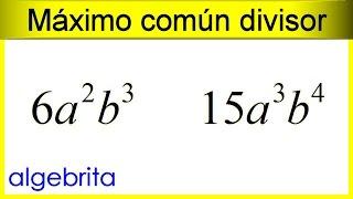 Máximo común divisor de monomios 383