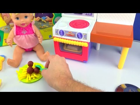 Baby Doll Play Doh Kitchen Set How To Make Food For Baby Dolls With