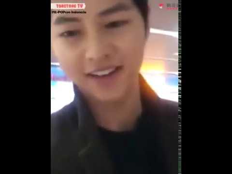 Song Joongki muncul di bandara!bahasa indonesia langka