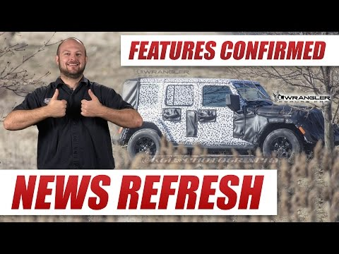 Folding Windshield Confirmed! New Jeep Wrangler JL Unwrapped! | March 2017 Update
