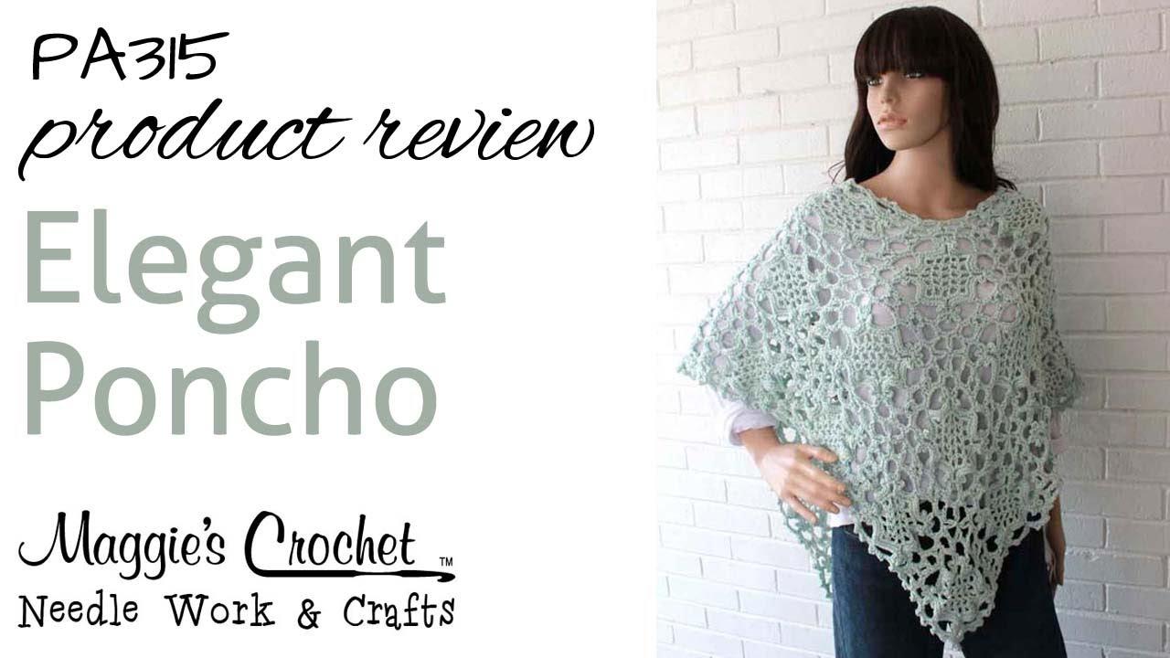 Elegant Poncho Crochet Fashion Pattern PA315 - YouTube