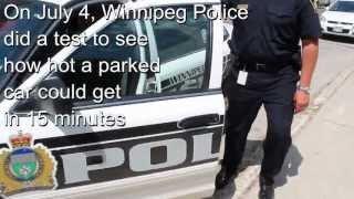 Winnipeg Police Service - Never Leave A Child Or Pet Unattended In A Parked Car