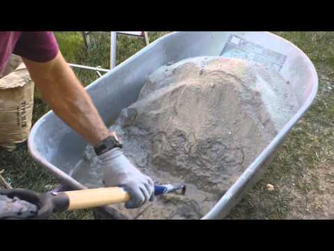 How To Make And Mix Portland Cement Stucco In A Wheelbarrow