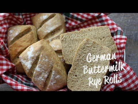 German Brotchen Buttermilk Rye Rolls