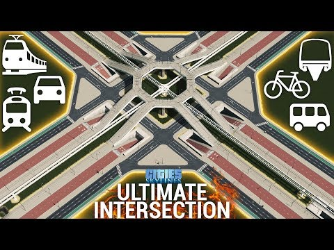 How to build the ULTIMATE INTERSECTION! (+Download) [ENGLISH] | Cities: Skylines