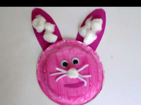 & Preschool Paperplate Art - Bunny - YouTube