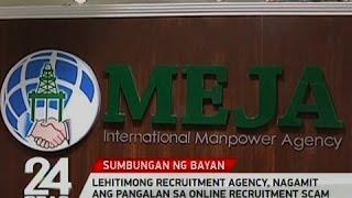 24 Oras: Lehitimong recruitment agency, nagamit ang pangalan sa online recruitment scam