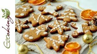 Вкуснейшее имбирное печенье без сахара с глазурью на ксилите / gluten free, vegan (постное)
