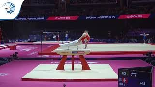 Oliver HEGI (SUI) - 2018 Artistic Gymnastics Europeans, qualification pommel horse