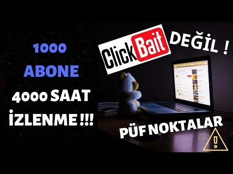 Youtube 1000 Abone