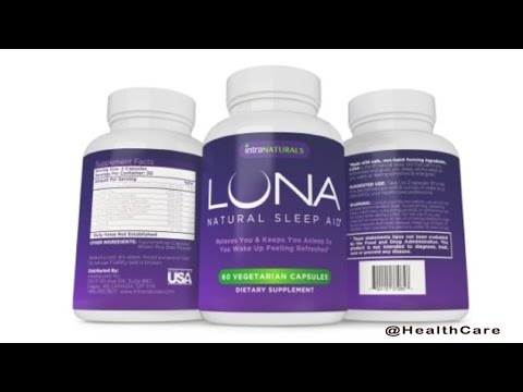 LUNA No 1 Natural Sleep Aid, suffer from insomnia and sleep deprivation aid. Amazon #1 Best Seller