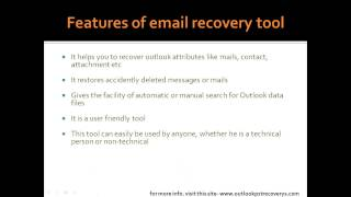 email recovery tool for outlook