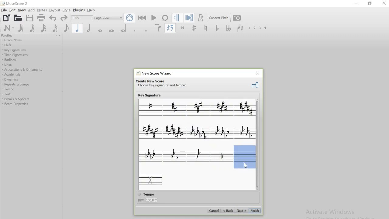 How to add time signatures in MuseScore