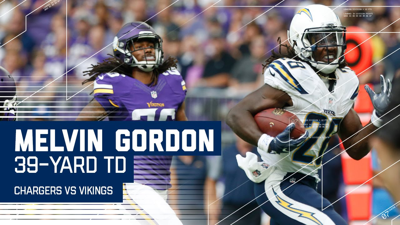 Melvin Gordon S 39 Yard Td Run Chargers Vs Vikings