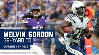 Melvin Gordon's 39-Yard TD Run! | Chargers vs. Vikings (Preseason) | NFL