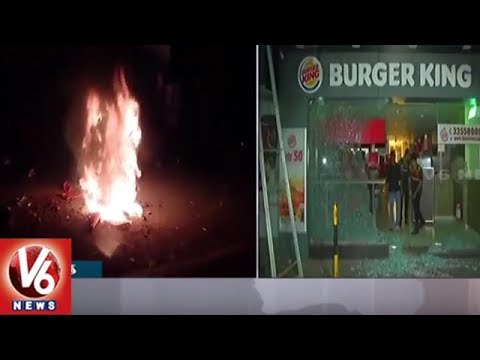 Padmavat Protest: Bikes Burnt, Shops Vandalised In Ahmedabad | Gujarat | V6 News