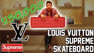 1f3b3c17d125 $150,000 SUPREME X LOUIS VUITTON SKATEBOARD!!! - User Submitted by Brandon  Kicks ...