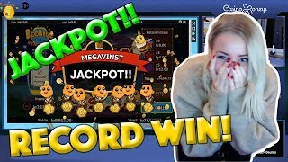 SHE HIT THE JACKPOT IN 5 MINUTES!!! (MUST SEE) RECORD WIN FROM Casino Live Stream!! Beehive Bedlam