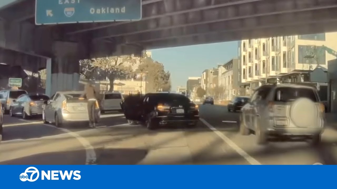 CAUGHT ON CAMERA: Driver robbed while in San Francisco traffic near I-80 on-ramp