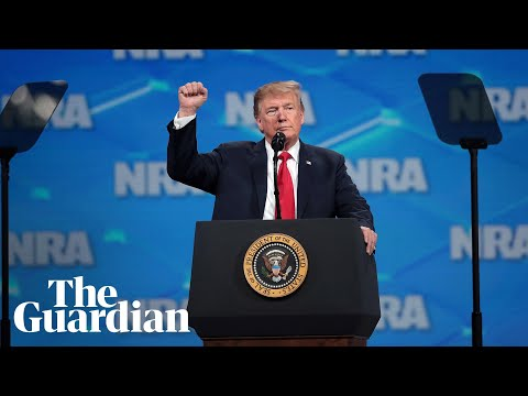 'Bad guys aren't giving up their guns and you're not going to either' says Trump