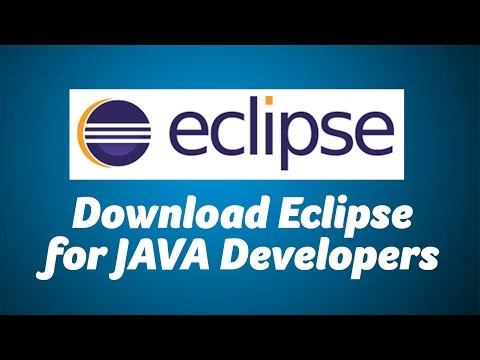Install Eclipse for JAVA Developers
